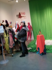 Exploring the interactive room! Costumes to try thanks to Autstin Young's TBD The Musical.